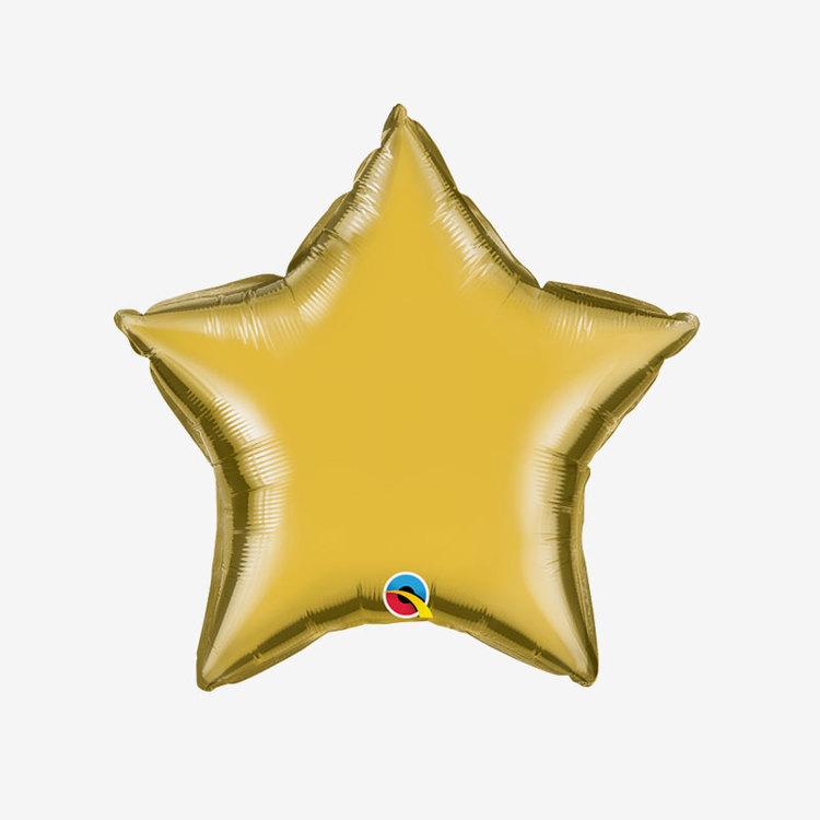 Heliumfylld Folieballong - Stjärna Guld