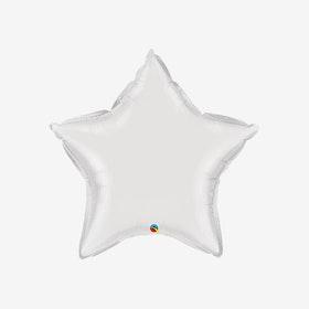 Heliumfylld Folieballong - Stjärna Vit