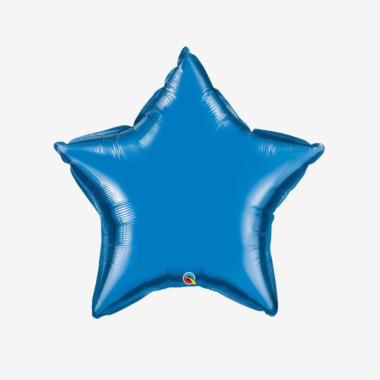 Heliumfylld Folieballong - Stjärna Blå