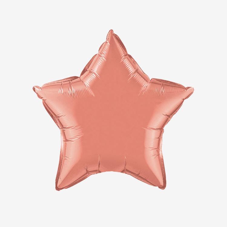 Heliumfylld Folieballong - Stjärna Korall