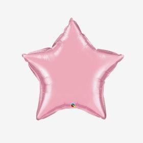Heliumfylld Folieballong - Stjärna Puderrosa