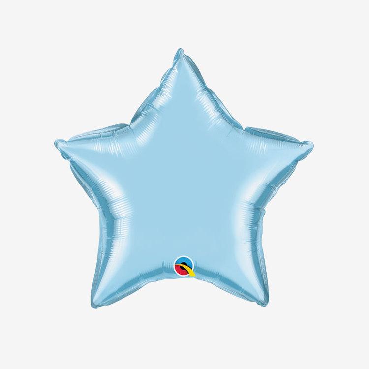 Heliumfylld Folieballong - Stjärna Ljusblå