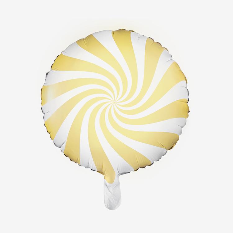 Heliumfylld Folieballong - Candy - Ljusgul