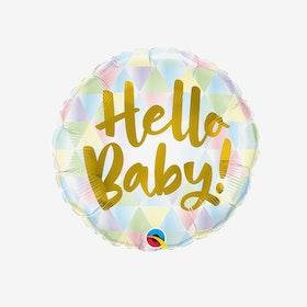 Heliumfylld folieballong - Hello baby