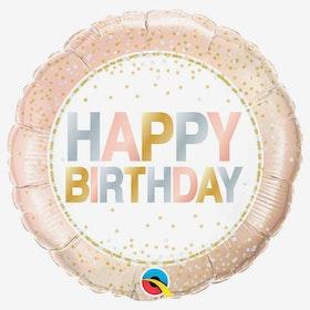 Ballongpost  - Happy Birthday Rose Confetti
