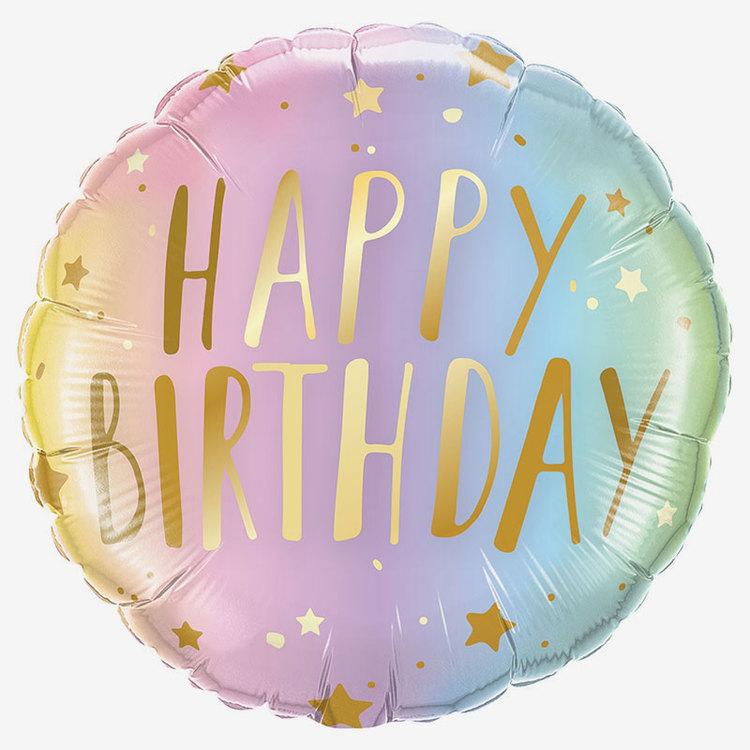 Ballongpost  - Happy Birthday Ombre