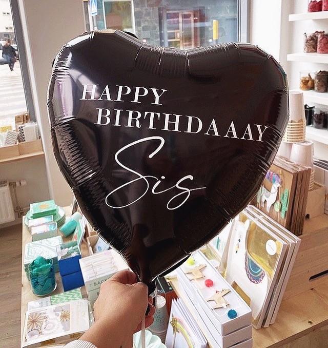 Ballongpost - Personlig Hjärtballong