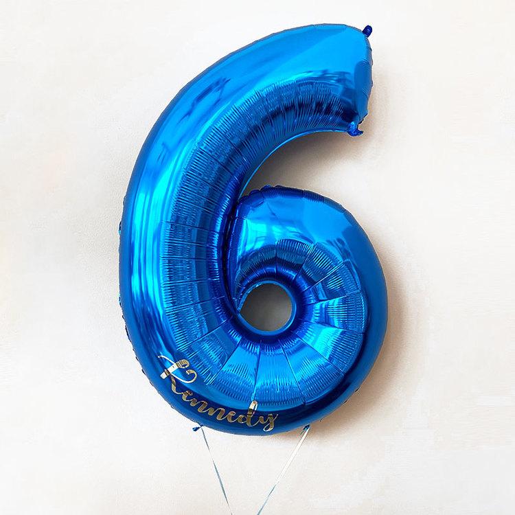 Heliumfylld sifferballong - Personlig