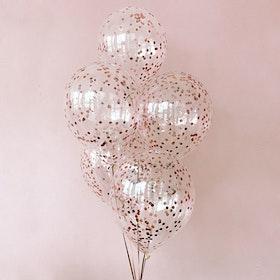 Heliumfylld Ballongbukett - Rose konfetti Crush
