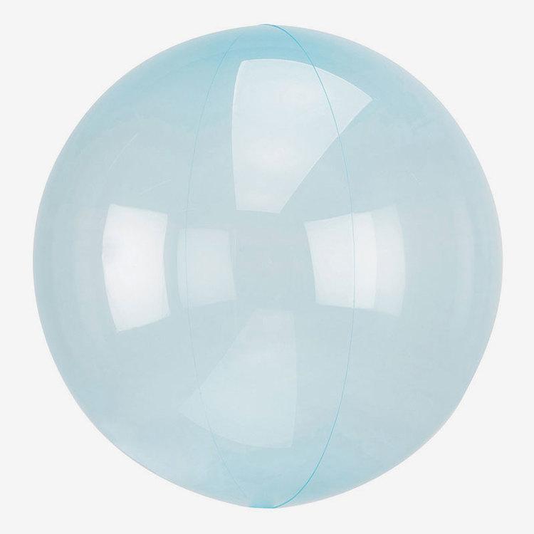 Ballong - Crystal Clear - Blå