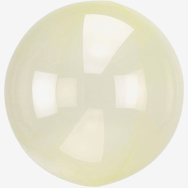 Ballong - Crystal Clear - Gul