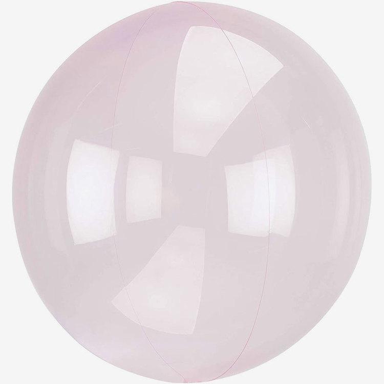 Ballong - Crystal Clear - Ljusrosa