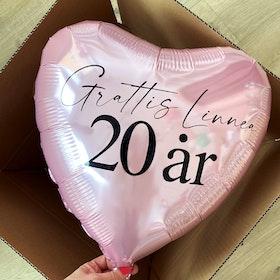 Heliumfylld hjärtballong - Personlig