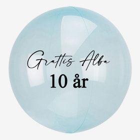 Heliumfylld Bubbla - Personlig -Blå