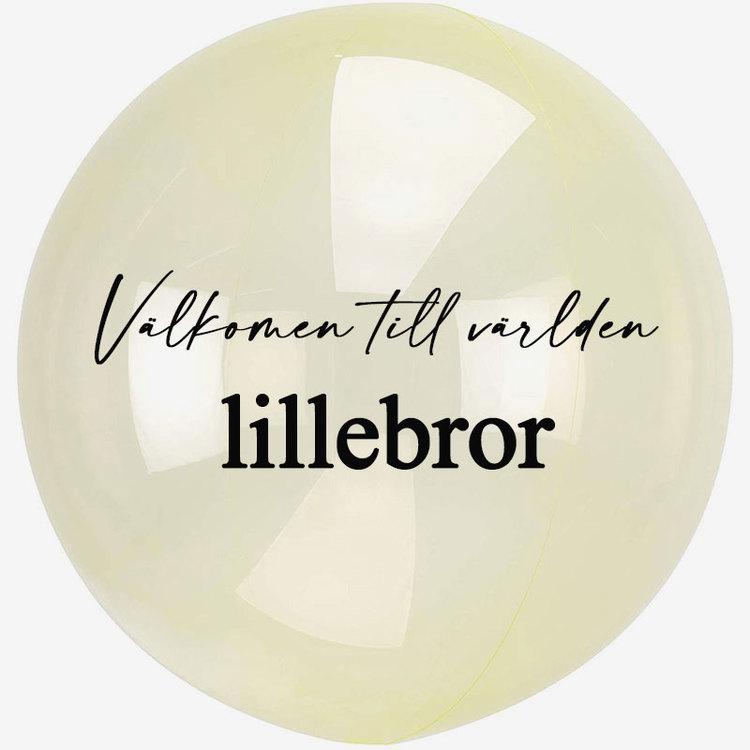 Heliumfylld Bubbla - Personlig - Gul