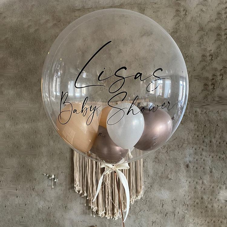 Heliumfylld Orbz med ballonger inuti - Personlig