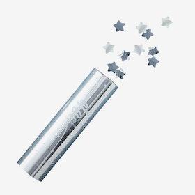 Konfettibomb - Metallic Star Silver