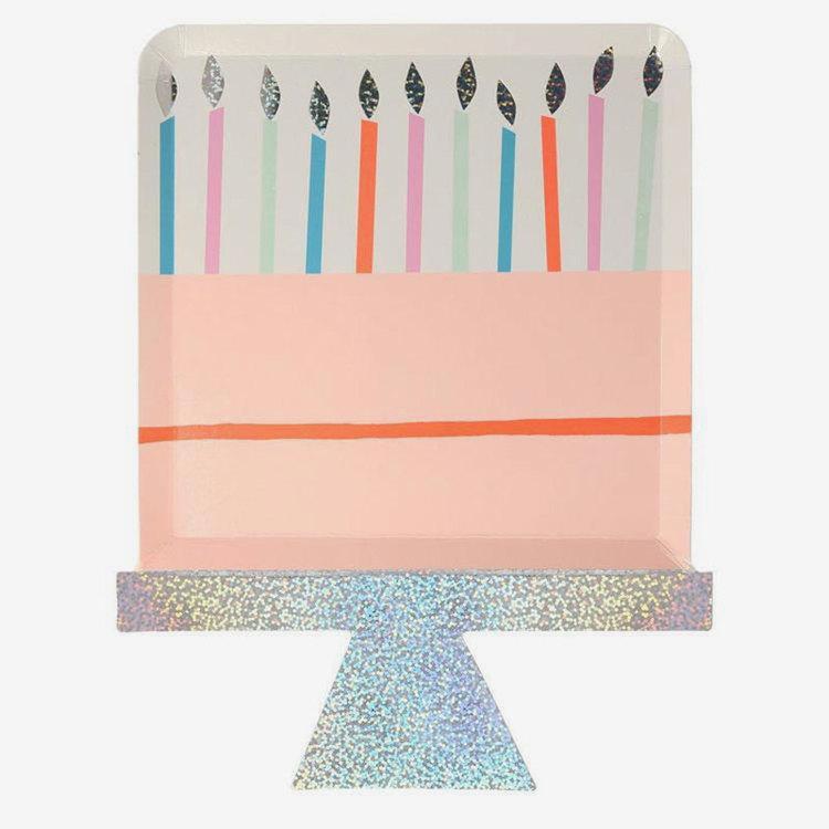 Tallrikar - Födelsedagstårta