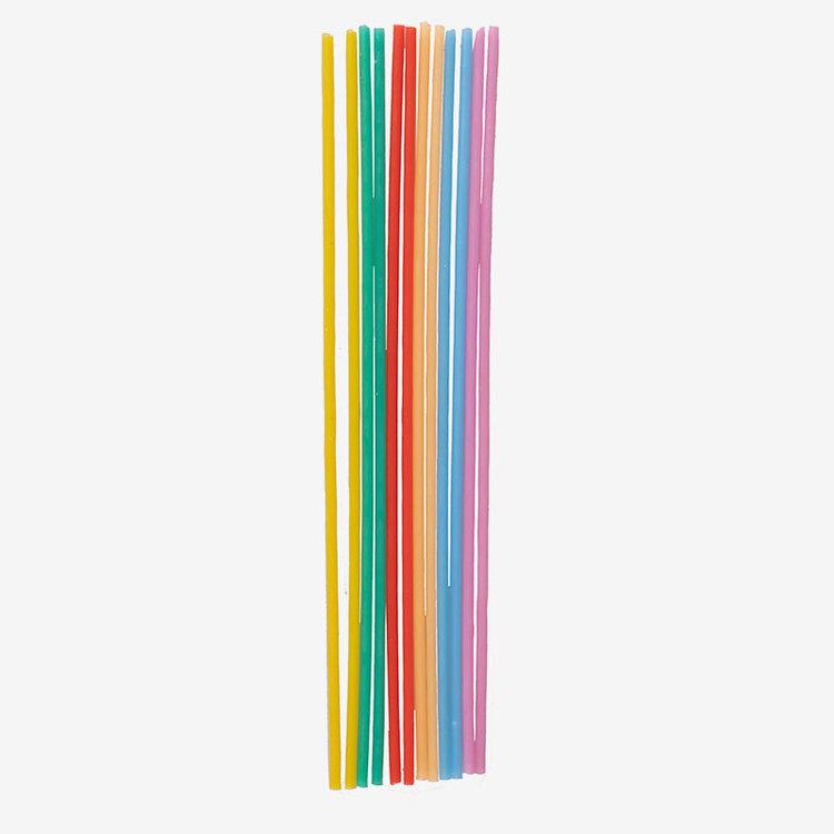 Tårtljus - Rainbow - Långa