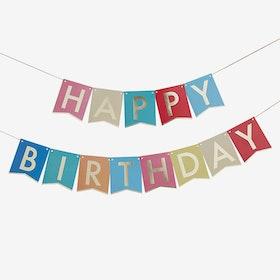 Vimpel - Happy Birthday - Rainbow