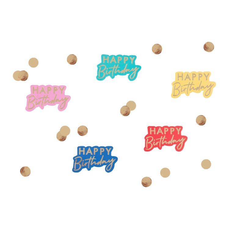 Konfetti - Happy Birthday - Rainbow