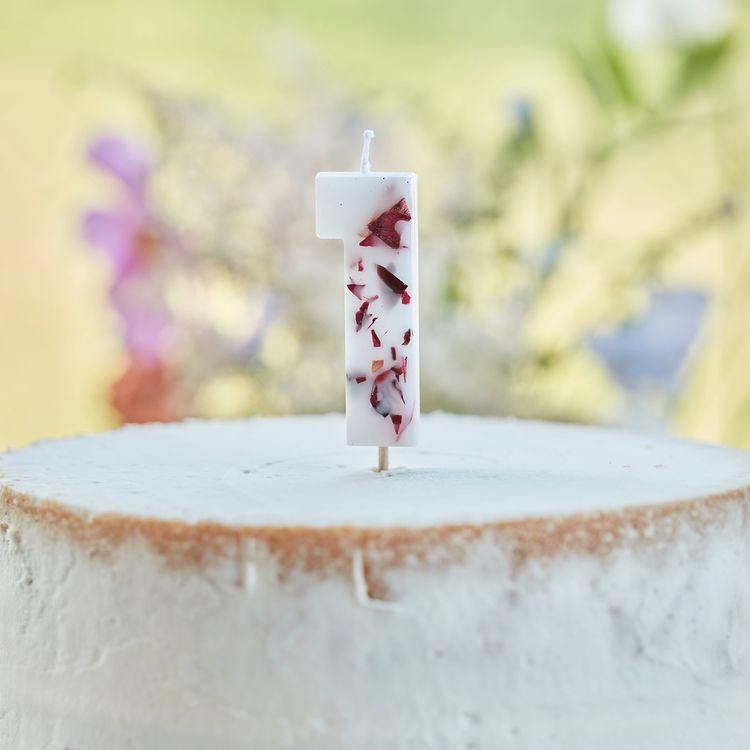 Tårtljus - Blomblad - 1a