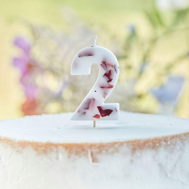Tårtljus - Blomblad - 2a