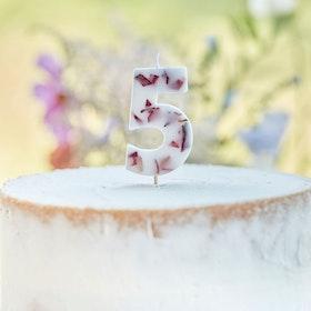 Tårtljus - Blomblad - 5a