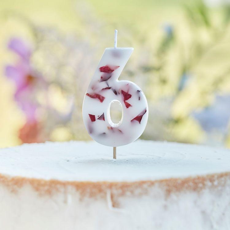 Tårtljus - Blomblad - 6a