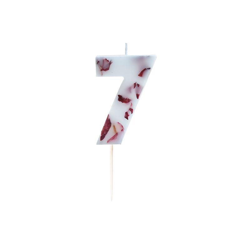Tårtljus - Blomblad - 7a