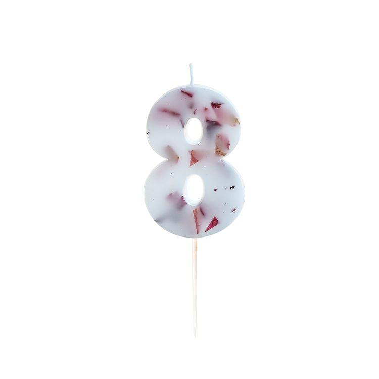 Tårtljus - Blomblad - 8a