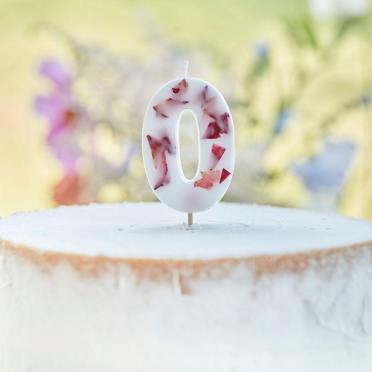 Tårtljus - Blomblad - 0a