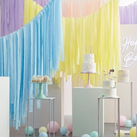 Backdrop Kit - Streamers - Pastell
