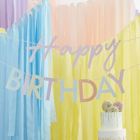 Girlang - Happy Birthday - Pastell
