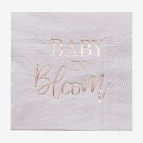 Servetter - Babyshower - Baby in Bloom