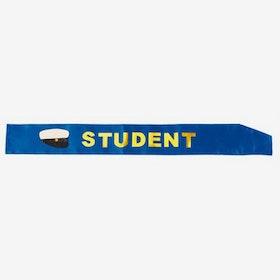 Sashband - Student - Blå/glud