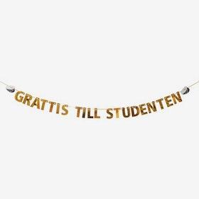 Girlang - Grattis till Studenten - Guld