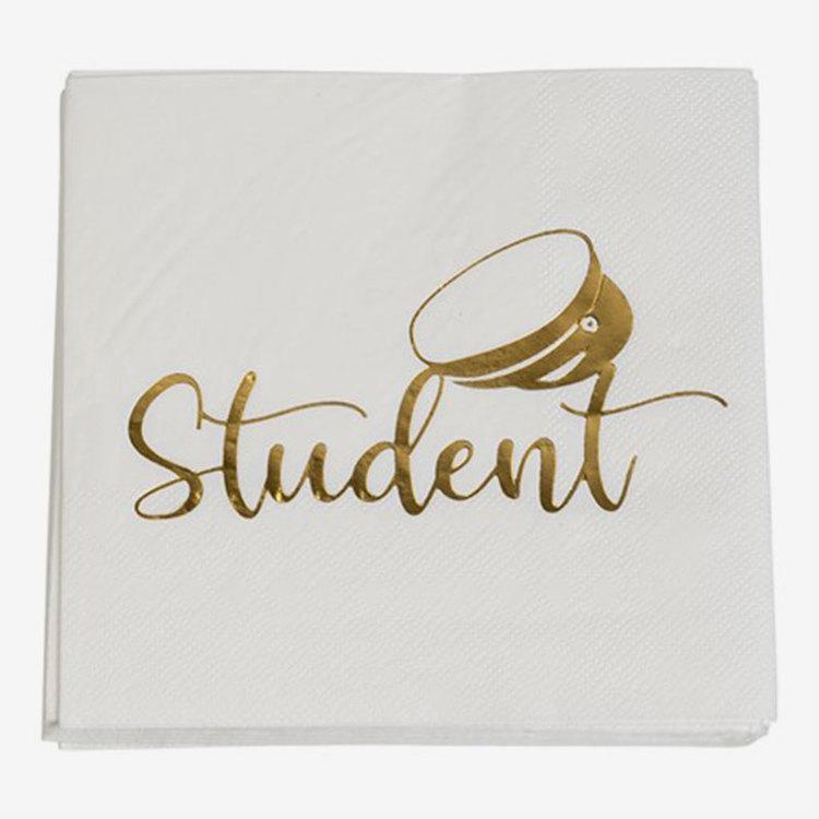 Servetter - Student - Guld