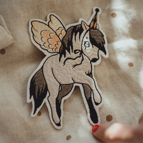 1 Patch Flying pony  -  Mrs Mighetto