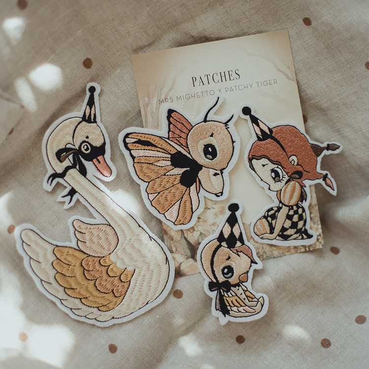 4-pack Patches Dear Swan  -  Mrs Mighetto