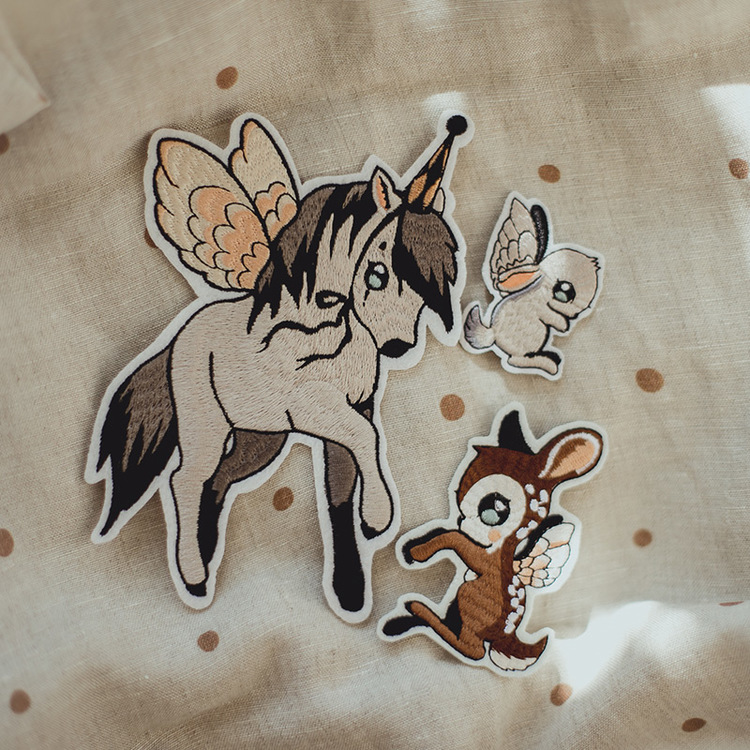 4-pack Patches Flying Pony  -  Mrs Mighetto