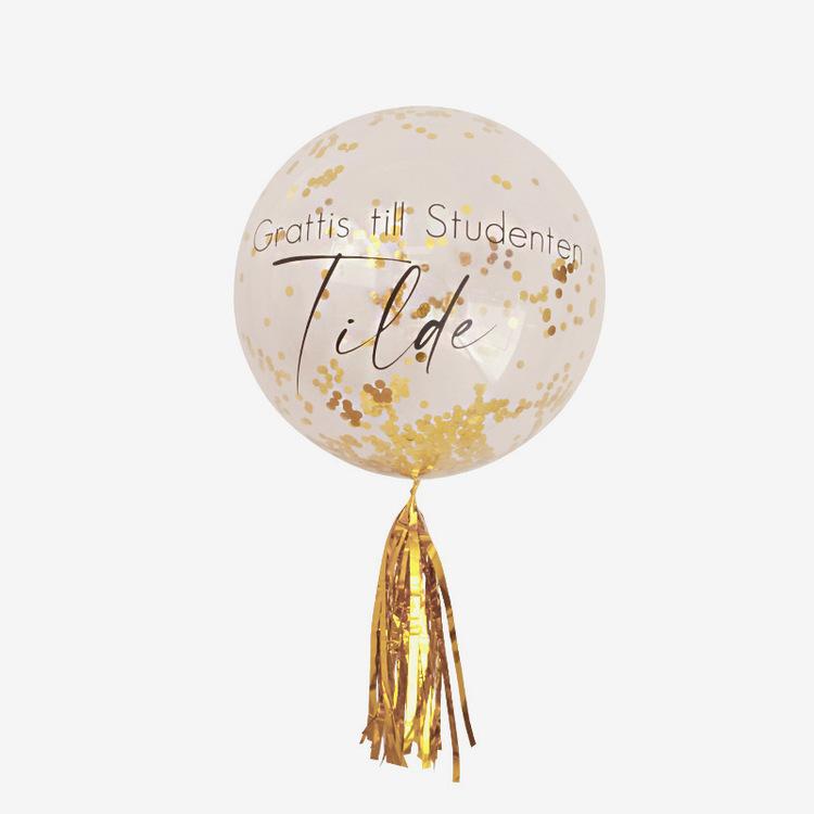 Heliumfylld Bubbla med tail - Personlig - Student