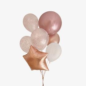 Heliumfylld Ballongbukett - Student - Rosé Mix