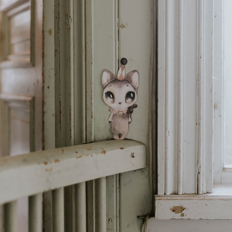 Wall sticker - Dear Meow - Mrs Mighetto