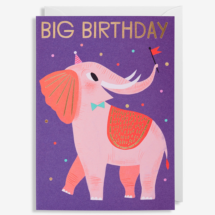 Kort - Elefant - Big Birthday