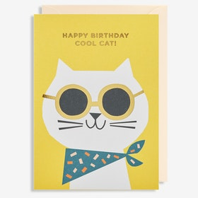 Kort - Happy birthday Cool Cat