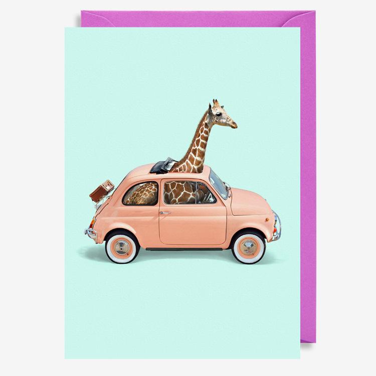 Kort - Giraffe Car