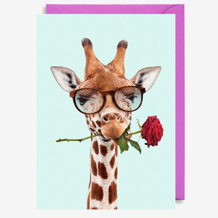 Kort - Giraffe Rose