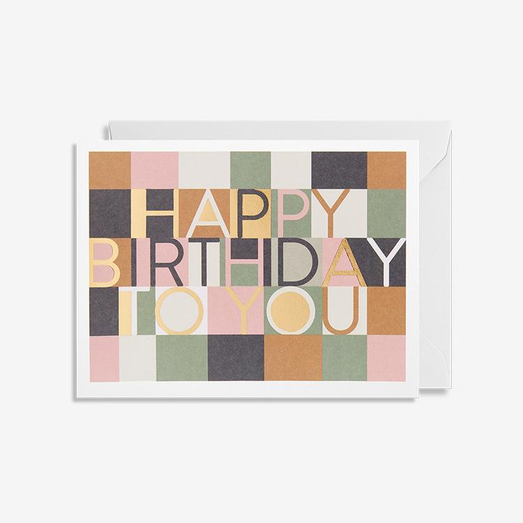 Kort - Happy Birthday To You - Pastell