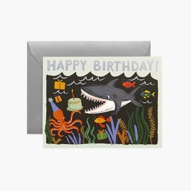 Kort - Happy Birthday - Shark